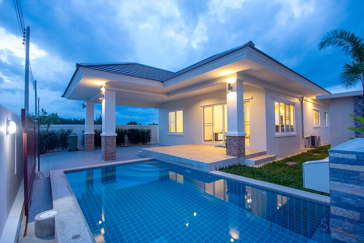 Beautiful Pool Villa – NEVER OCCUPIED All is brand new Hua Hin Soi 88