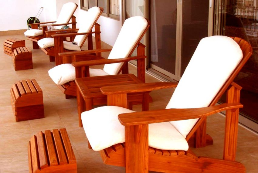 Condo deck chairs