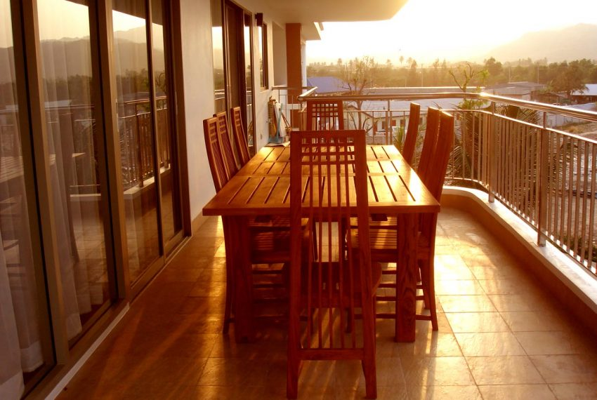 Condo side terrace table