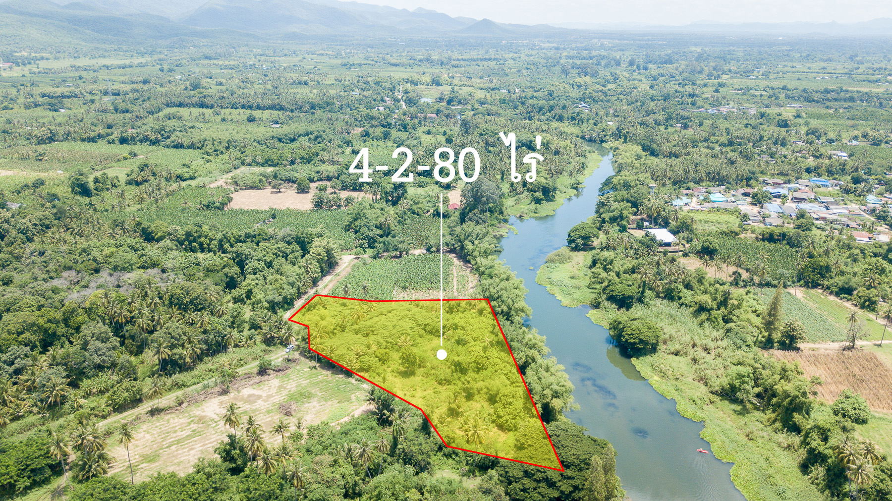 Beautiful Land next from the river for Sale