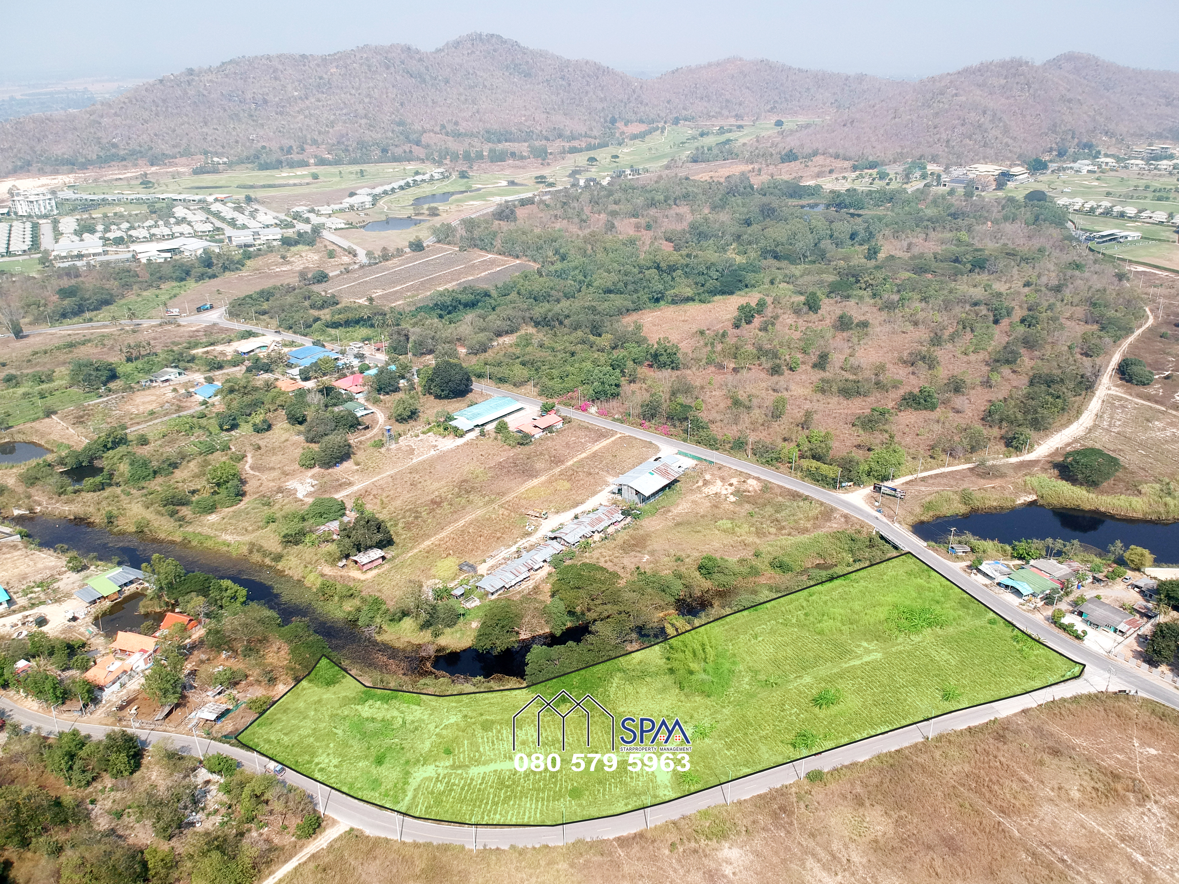Land for Sale near Black Mountain Golf Course and next from canal