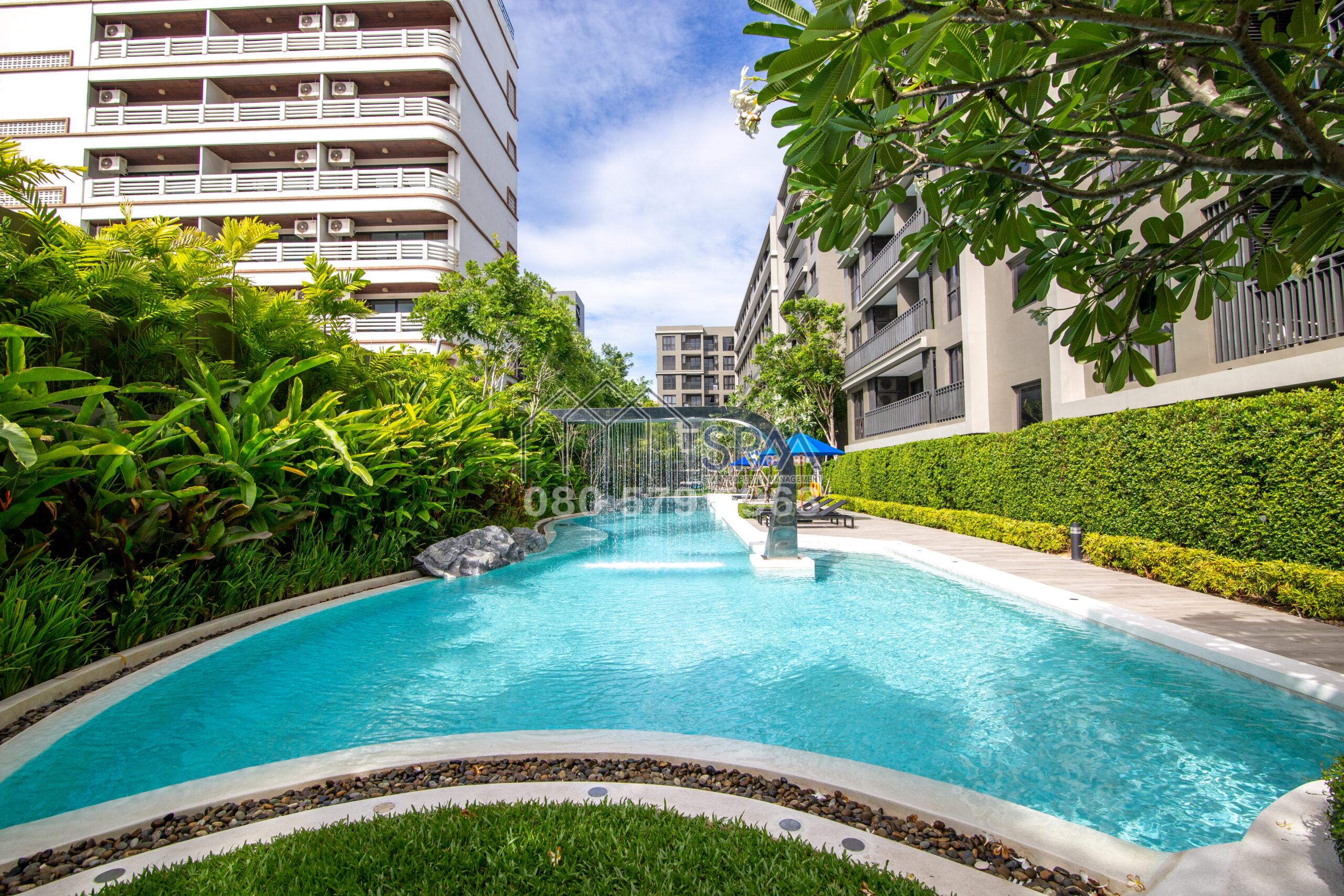 1 Bedroom unit, pool view at Marvest Condominium, Hua Hin center