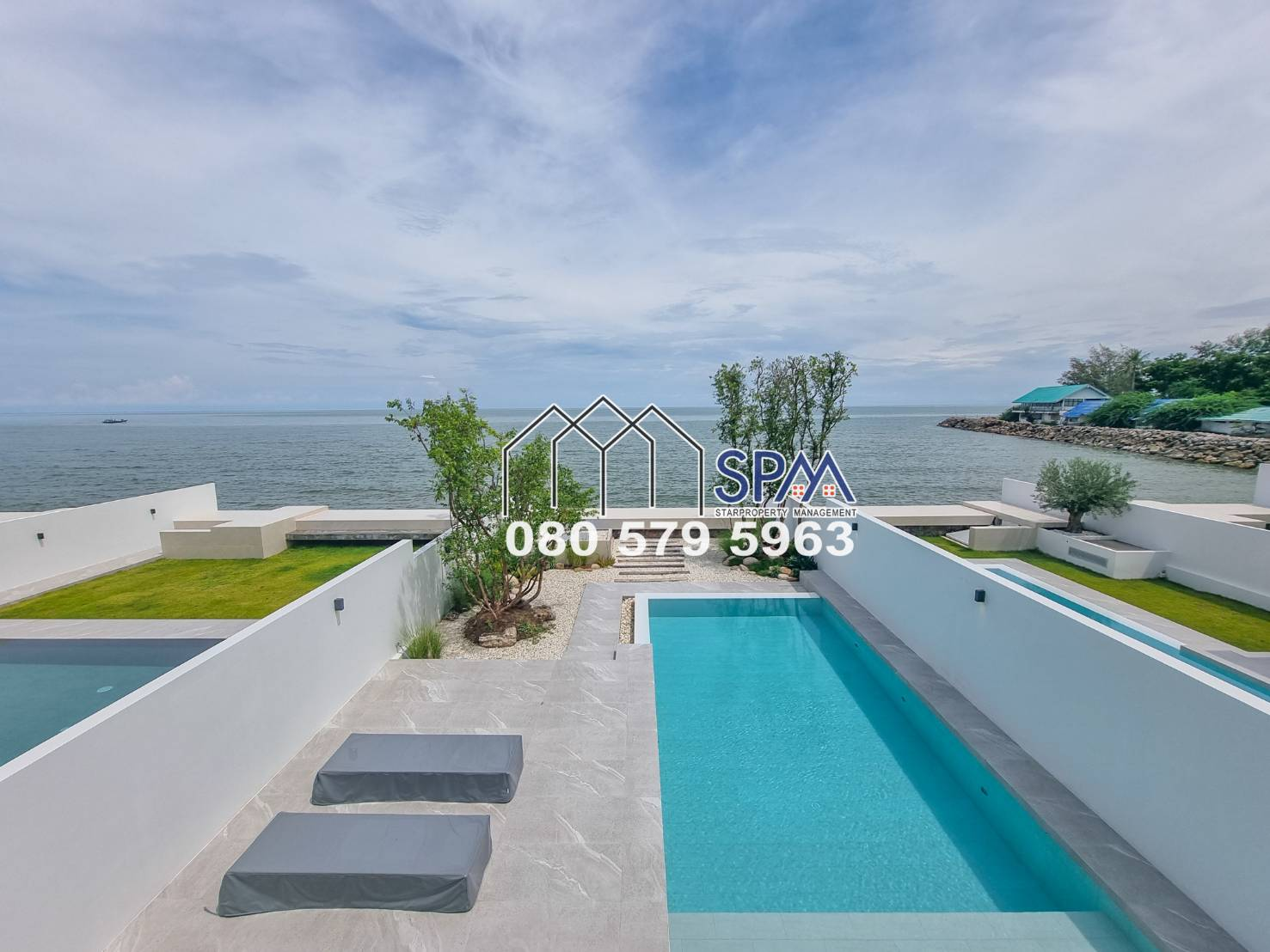 Modern Beach front Villa For Sale at Cha Am KehadFa